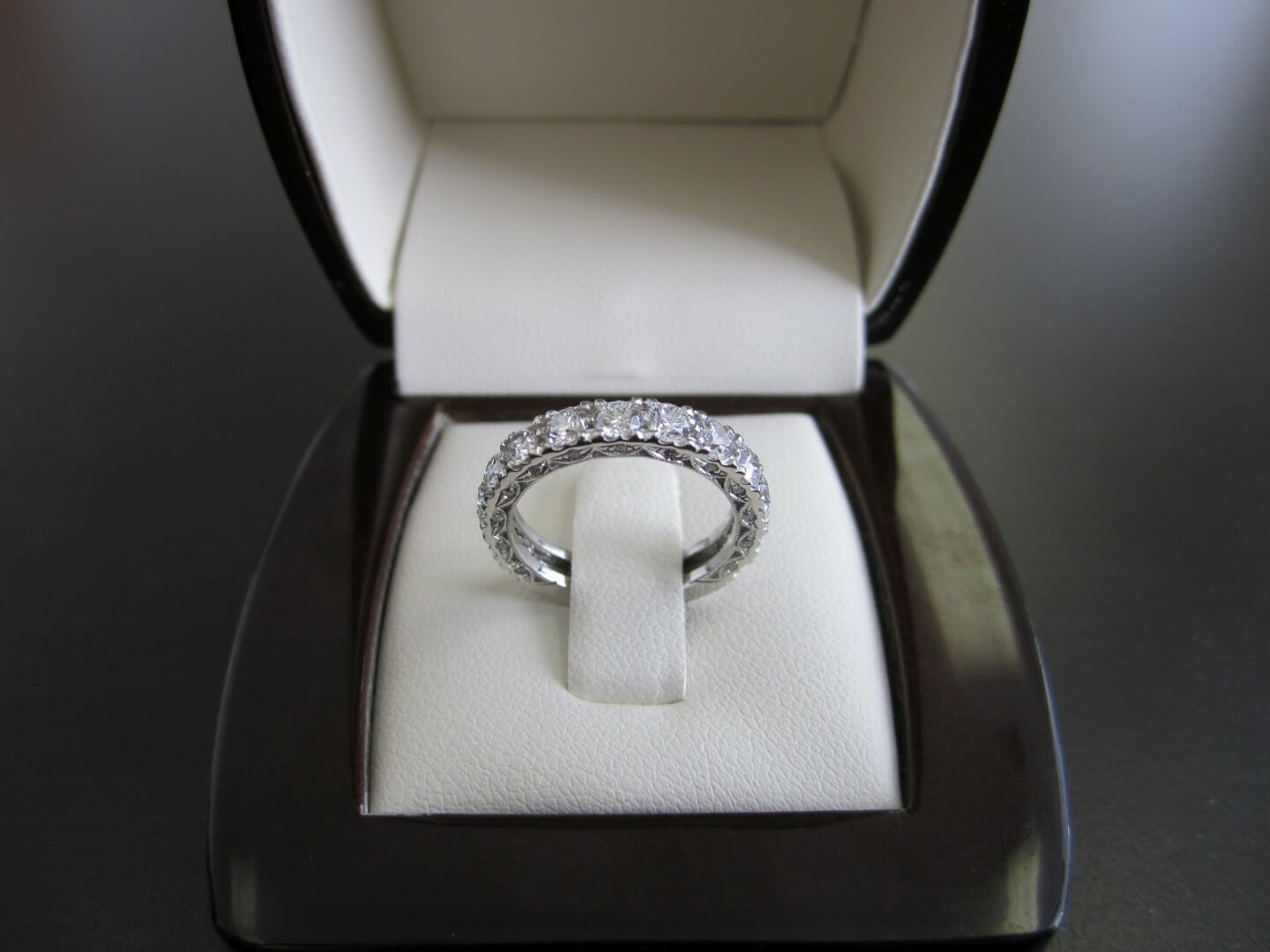 Picture of Custom Made Platinum Wedding Band with 1ctw of Diamonds